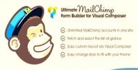 Mailchimp ultimate form composer builder visual for