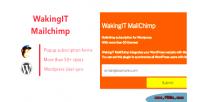 Mailchimp wakingit plugin wordpress newsletter