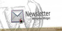 Mailer newsletter wordpress widget