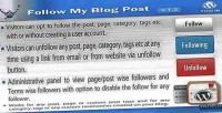 My follow blog plugin wordpress post