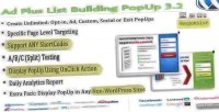 Plus ad popup building list