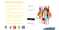 Popup mailchimp
