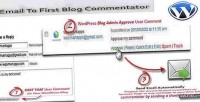 To email commentator blog first