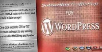 Traffic subscriber wordpress for pop