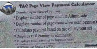 Page tac calculator payment view