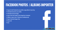 Photos facebook albums importer