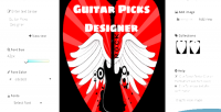 Picks guitar designer