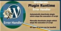 Plugin wordpress handler error runtime