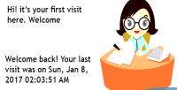 Plugin your last visit on was plugin