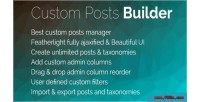 Posts custom builder pro