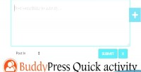 Quick buddypress activity