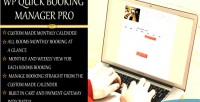 Quick wp pro manager booking