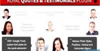 Quotes royal wordpress grid testimonials layers