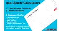 Renter mortgage plugin wordpress calculators