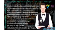 Restaurant advanced food manager menu and