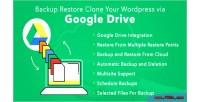 Restore backup clone wordpress your drive google via