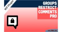 Restrict groups comments pro