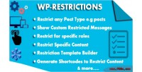 Restrictions wp