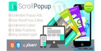 Scroll wordpress popups plugin