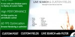 Search live fields custom and