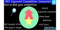 Keyword seo wordpress competition