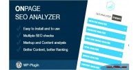 Page on seo wordpress for analyzer