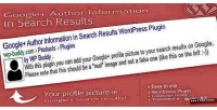Google plus author information results search in