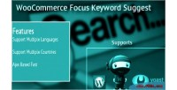 Product woocommerce keyword suggest