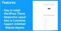 Stats web wordpress theme that generate can unlimited reports analysis website