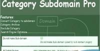 Subdomain category pro