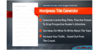 Title wordpress generator plugin