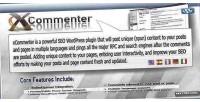 Wordpress xcommenter auto plugin seo comment