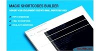 Shortcodes magic builder