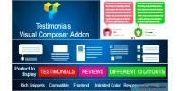 Showcase testimonials for on visual add composer