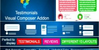 Showcase testimonials for on visual add composer