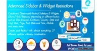 Sidebar advanced restrictions widget and