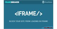 Site block from loading iframe in frame plugin wordpress breaker