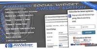 Social advanced edition aweber widget
