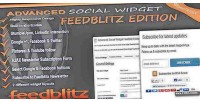 Social advanced edition feedblitz widget