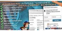 Social advanced edition mailchimp widget