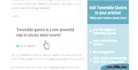 2.0 tweetdis tweetable tweets embed quotes