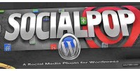 Socialpop a social media wordpress for plugin