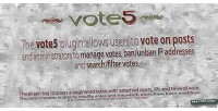Advanced vote5 plugin voting wordpress