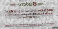 Advanced vote5 plugin voting wordpress