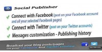 And facebook twitter wordpress for publisher
