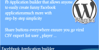 Application facebook builder