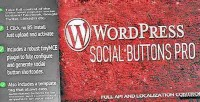 Buttons social wordpress for pro