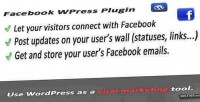 Facebook connect & viral wordpress for tool