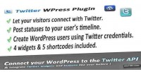 Connect twitter & wordpress for widgets