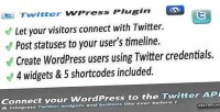 Connect twitter & wordpress for widgets